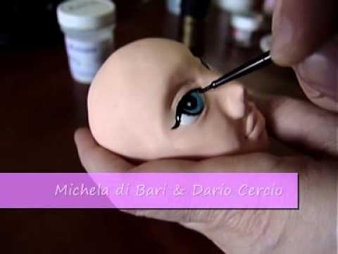 Tutorial viso in pasta di zucchero di Michela di Bari  Dario Cercio PARTE 2 - YouTube