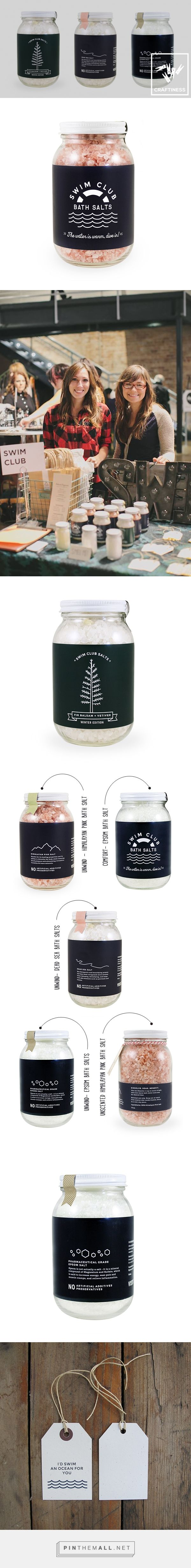 Sooth Your Soul with Swim Club Bath Salts via IAMTHELAB curated by Packaging Diva PD. Handmade bath salts on clever packaging.