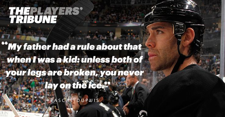 How a hockey upbringing led Pascal Dupuis to play 5 games with a blood clot in his lung.  I <3 Dupuis!