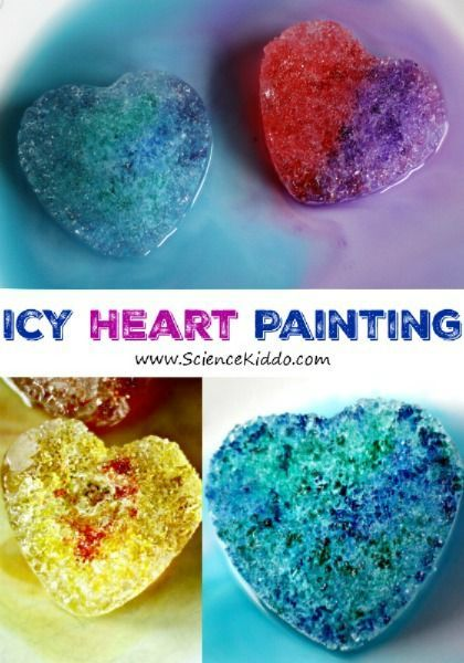 Use salt and liquid watercolors to create a gorgeous Valentines science experiment work of art! Kids of all ages will love making bright and colorful ice hearts while learning how salt melts ice. This Valentine's Day STEM activity is the perfect fit for a heart-themed party, a classroom science center, or just for fun!