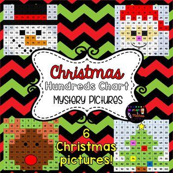 Christmas Hidden Pictures ~ Hundreds Chart FREEBIE