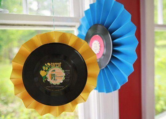 DIY Decor for a Vinyl Party