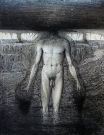 l'apparizzione, 2006 tecnica mista su tela , cm 120 x 93