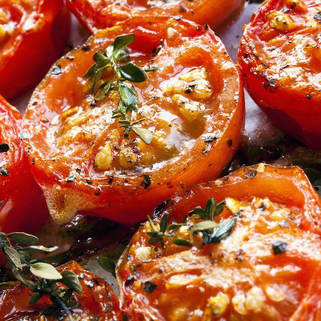 Tomates au four confites