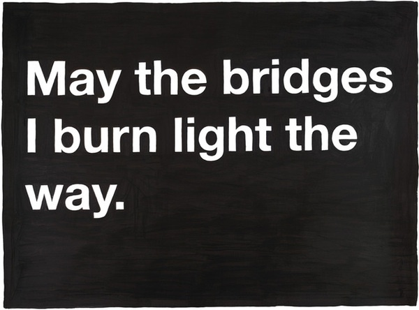 lets burn all these bridges and get away from these fuck-tards