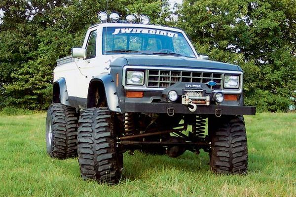 joe waskewicz 1985 ford ranger features a 302 gt 40 v8 c4 auto twin stick dana 20 a dana 44 front axle detroit locker ford 9 inch rear with a - Ford Ranger 44 Lifted For Sale