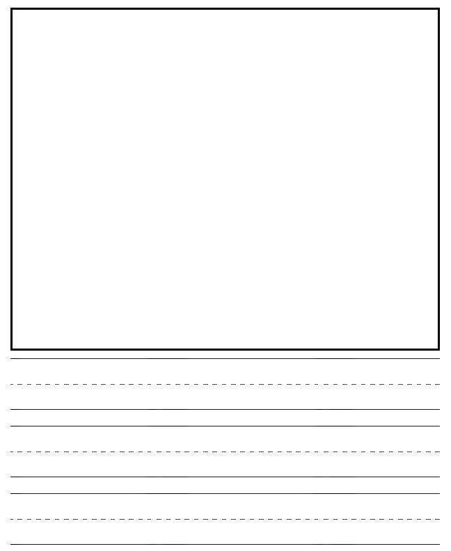 Best Images of Kindergarten Writing Journal Paper Printable