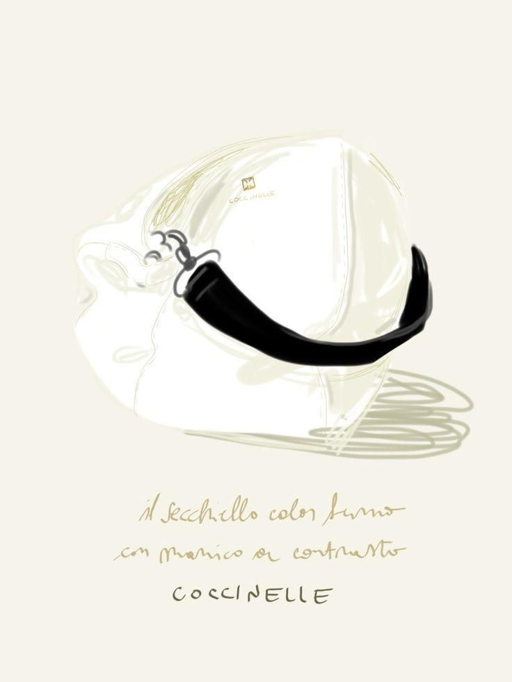 Secchiello bicolore, Coccinelle S/S13.  #illustration Open Toe - Opentoeillustration.com