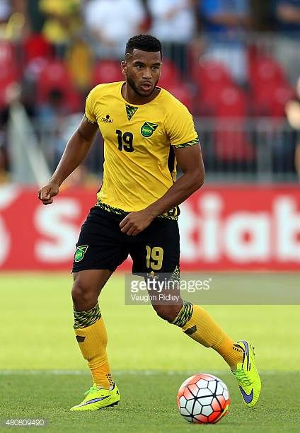 Adrian Mariappa of Jamaica during the 2015 CONCACAF Gold Cup Group B match between Jamaica and El Salvador at BMO Field on July 14 2015 in Toronto...