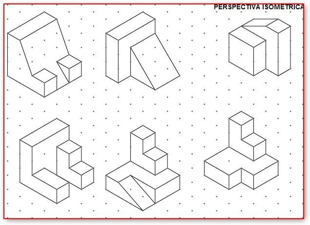 ejercicios de perspectiva a partir de trama isometrica - Buscar con Google