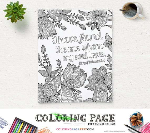Instant download Bible coloring page with Bible verses for both adults and kids! Great Deals when you buy 5 for $15 with multi-pack