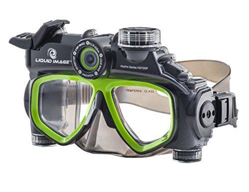 Liquid image 305G - Videocámara deportiva (12 Mp, 720p, 30 fps), gris y verde (importado)