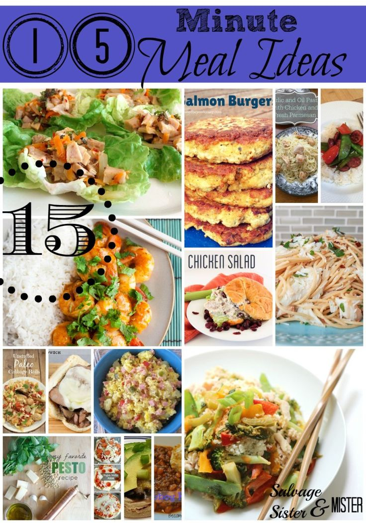 It's 5pm do you know.....What's for dinner?  Need some quick 15 min dinner ideas?  We have some for everyone paleo, cowboys, kids, vegeterian, and more.  Fifteen 15 min meal ideas.  Get dinner on the table quick and easy.  www.salvagesisterandmister.com
