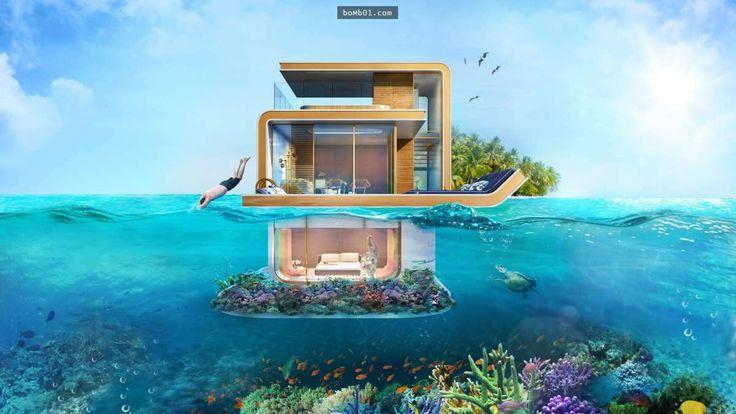 杜拜推出超創新的「漂浮房子」不只能讓你住在水上,連在水下也能讓你自由自在地活動! - boMb01