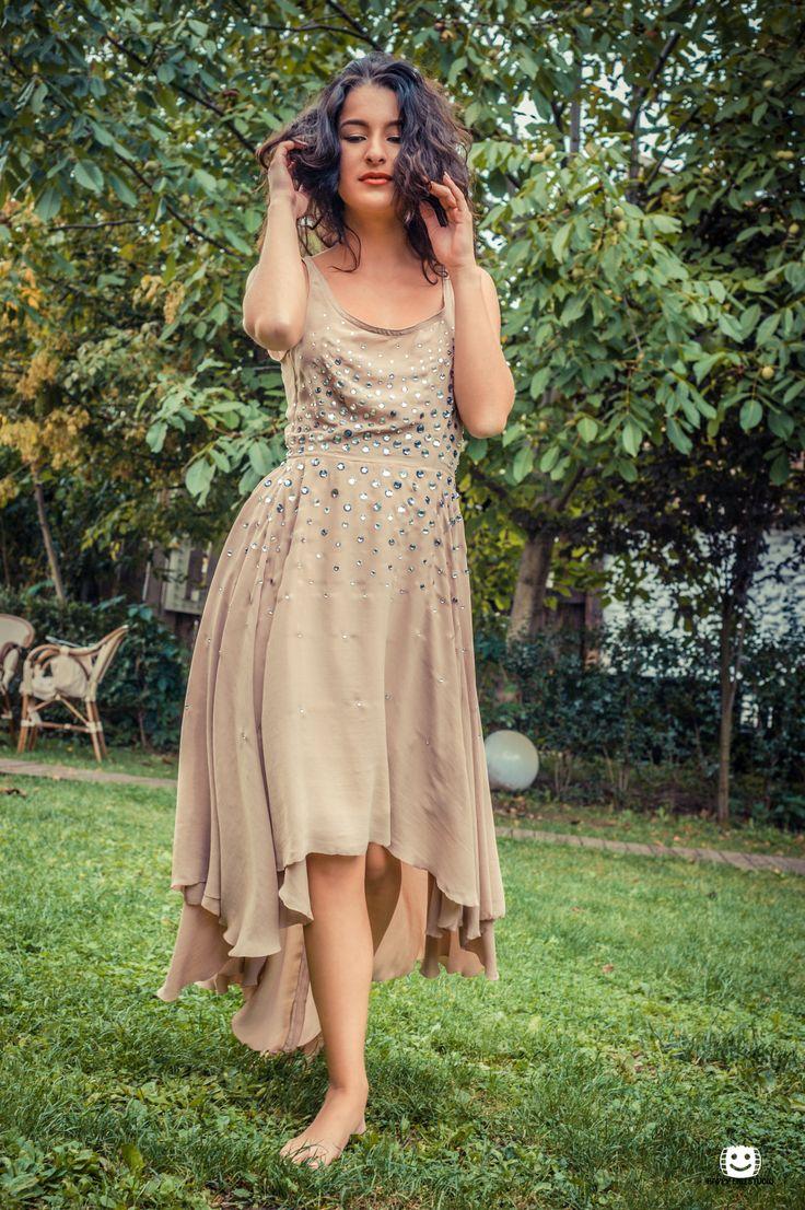 Voile dress, bie cut and sparkle sparkle
