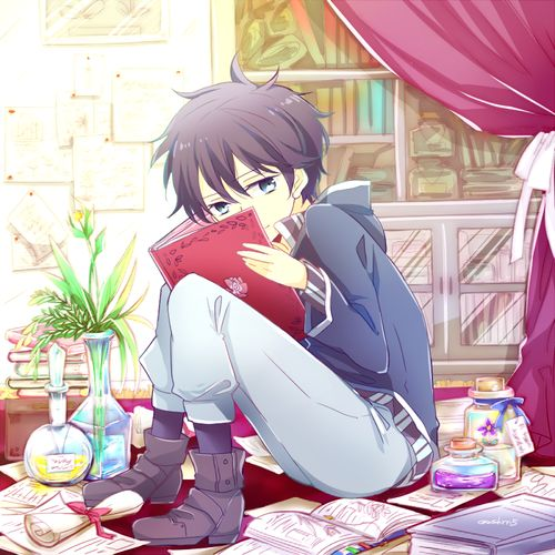 anime, boy, and illustration image