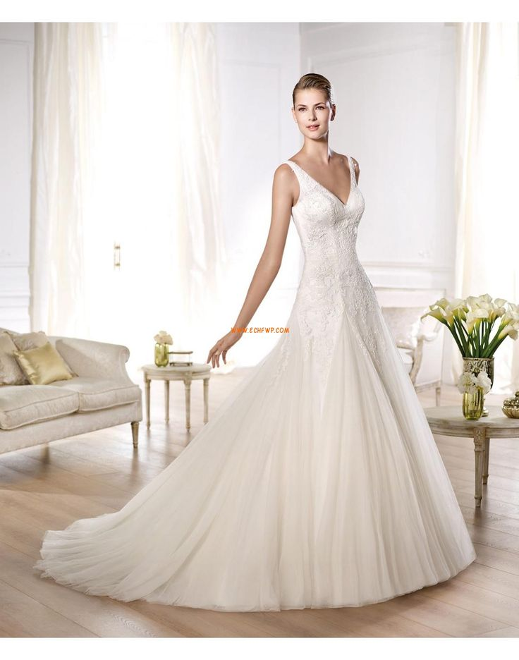 Tyll Vår Bar rygg Bröllopsklänningar 2014