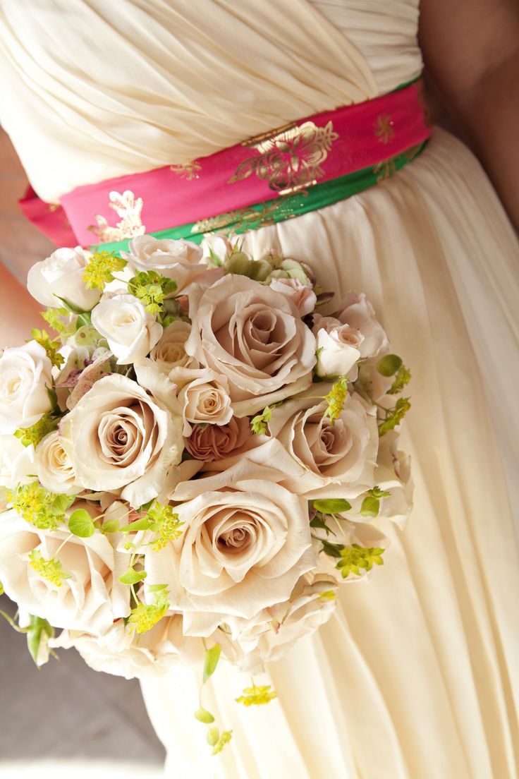 my wedding dress, sas, and flowers,  Photographed by: Inspiring Elements