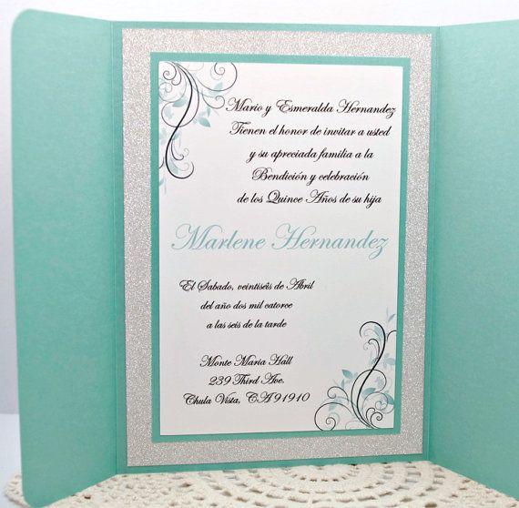 Sweet Sixteen Quinceanera or Wedding Invitation in por InviteBling