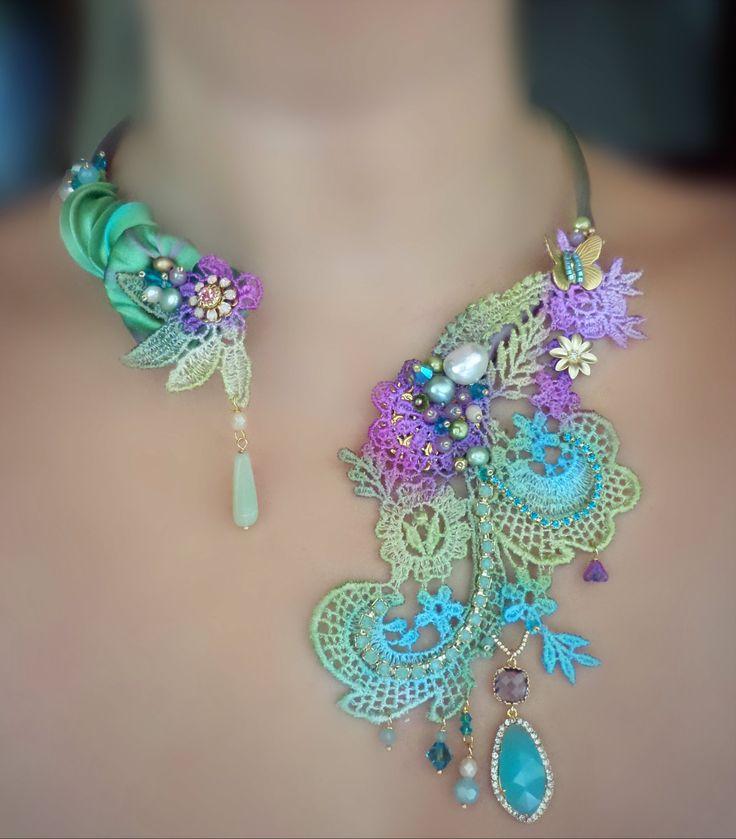 Lace necklace Serena Di Mercione Creation