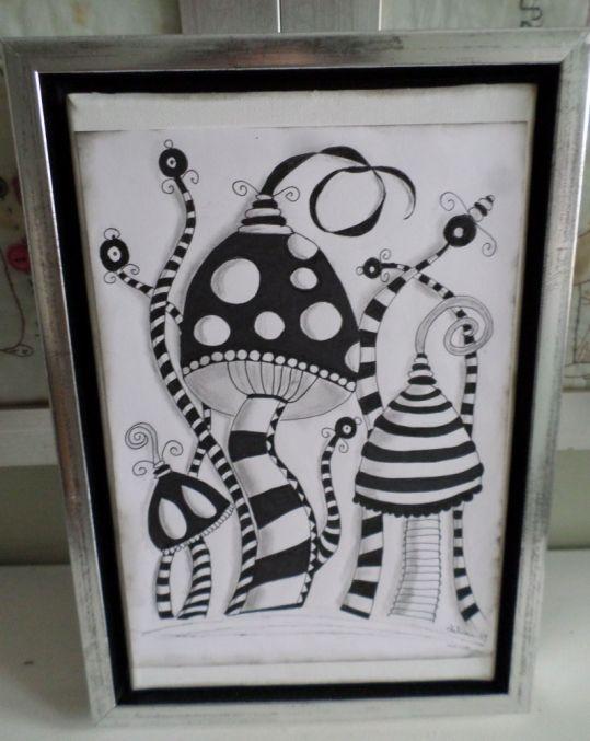 håndtegnet Zentangle billede