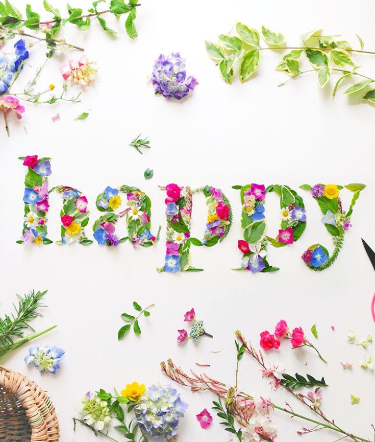 HAPPY - Fleuri -   Art floral, Citations sur les fleurs et Flower power