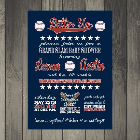 121 best images about baseball themed baby shower on pinterest, Baby shower invitations