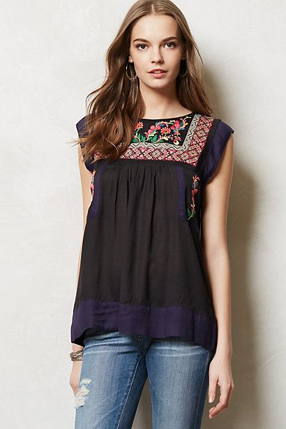 Kyra Embroidered Tunic #anthropologie