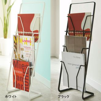 Magazine rack fashionable slim magazine stand shelf Scandinavian living stores over-the-counter Cafe Office Magazine shelf storage rack magazine rack display steel simple magazine rack display shelves industrial magazine stand Tower 4-white black