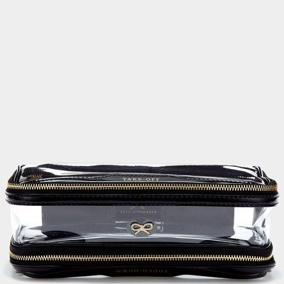 """One side says, """"Take Off"""", the other says, """"Touch Down"""".  So cute for a frequent traveler.  Inflight case"""