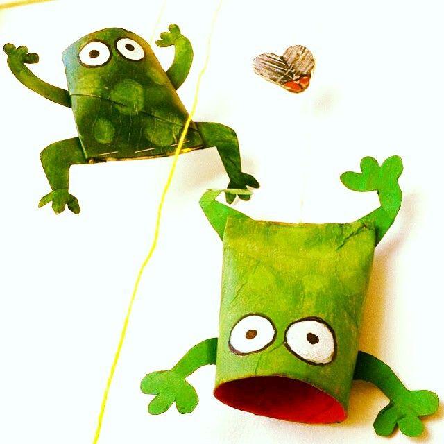 toilet paper roll frog craft | Crafts and Worksheets for Preschool,Toddler and Kindergarten
