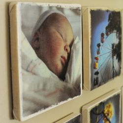 Make your own photo canvases using iron-on transfer paper.