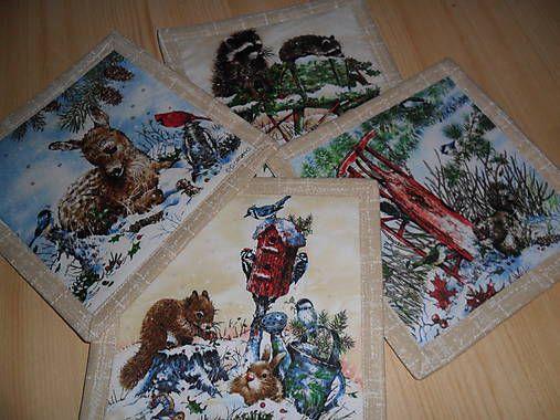 uburinky / Popdložky textilné.