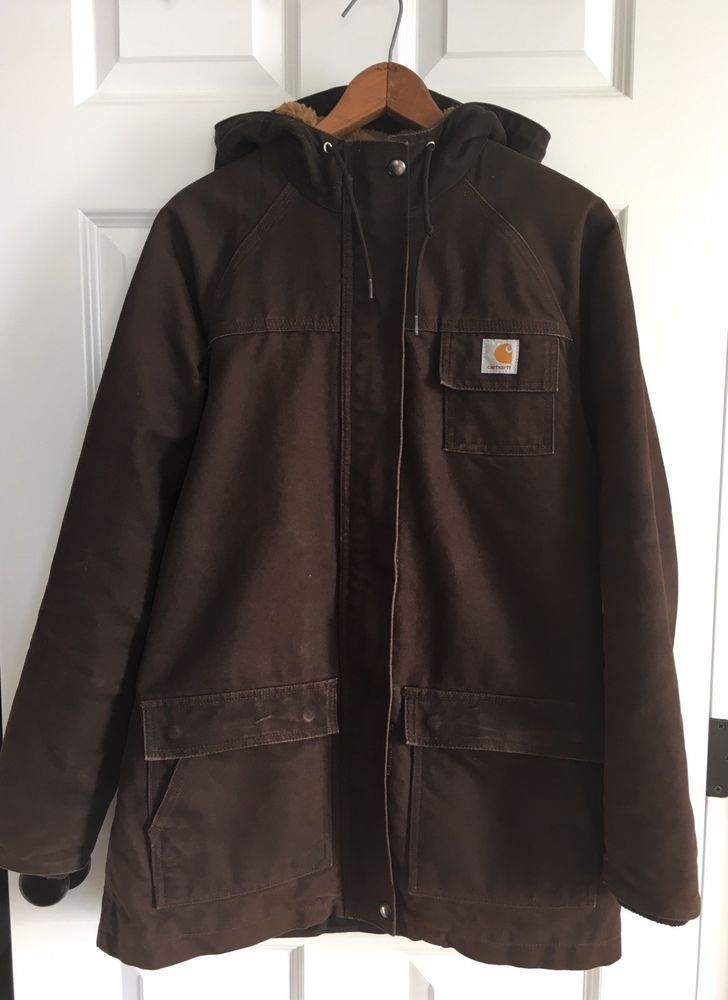 fb9675f487c Carhartt Chocolate Brown Women's Jacket Sandstone Kenai Parka Hooded Small  S #Carhartt #Parka #Outdoor