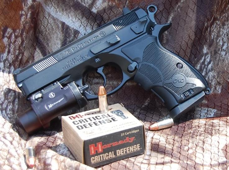 Hornady Critical Defense 9mm for CZ P-01 Compact (CZ 75 D Compact)