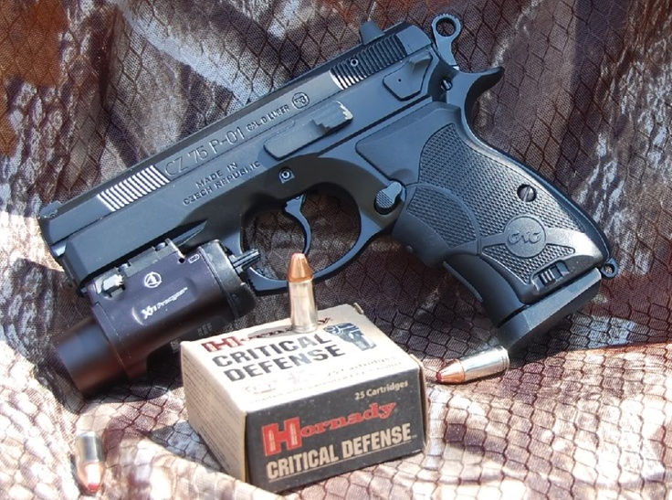Hornady Critical Defense 9mm for CZ P-01 Compact (CZ 75 D Compact)