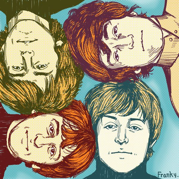 The Beatles by Frank Y #artwork #popculture #thebeatles