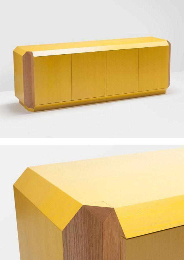 Sideboard with doors CORNER by H Furniture | #design Hierve #yellow @hfurnitureuk