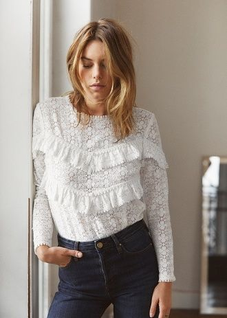 Sézane blouse dentelle ❤️