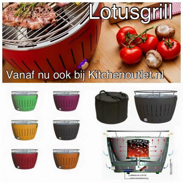 LotusGrill | de enige echte Rookvrije houtskool barbecue | Tafelgrill | o.a. geschikt voor op de boot bbq |