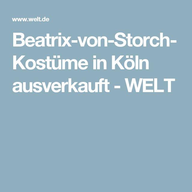 Beatrix-von-Storch-Kostüme in Köln ausverkauft - WELT