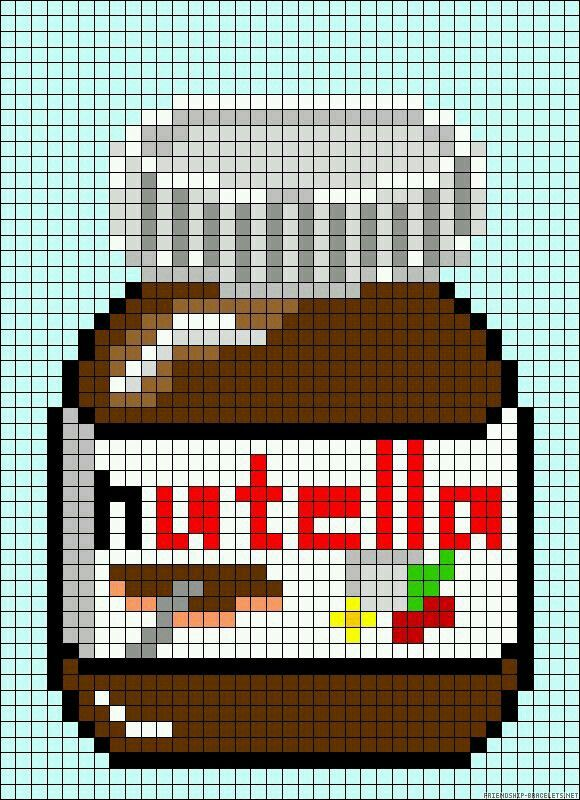 Nutella embroidery pattern
