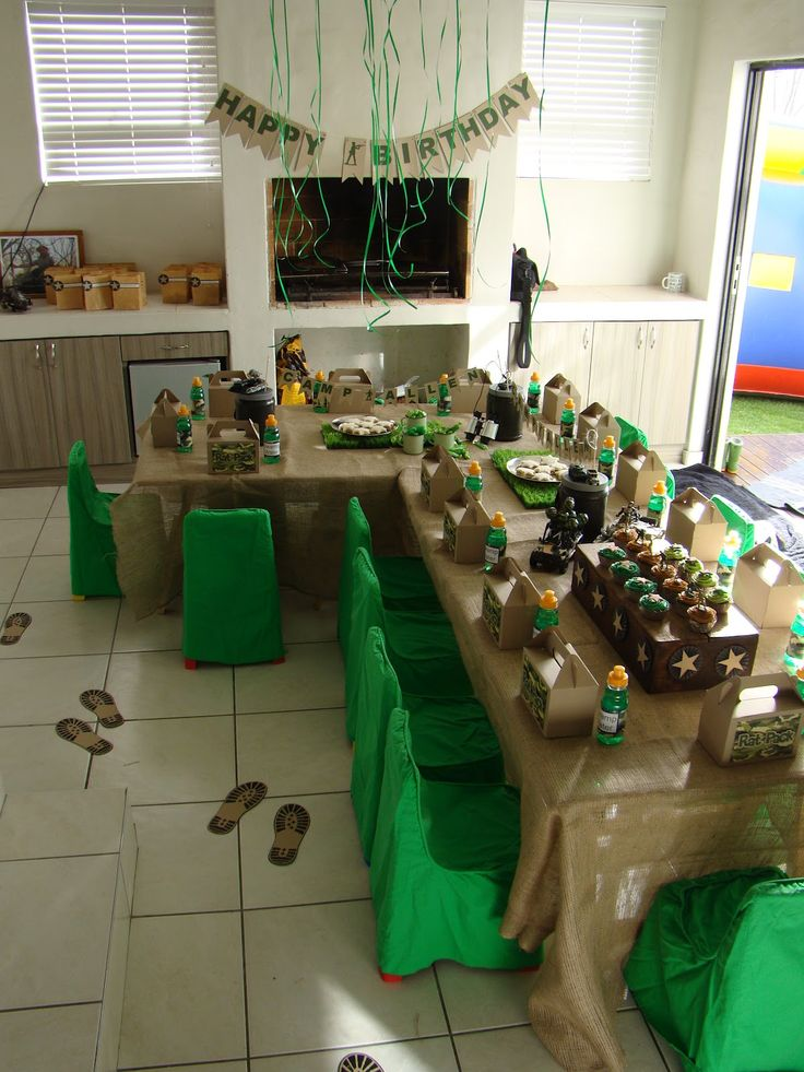 25 best ideas about army party decorations on pinterest for Army decoration ideas