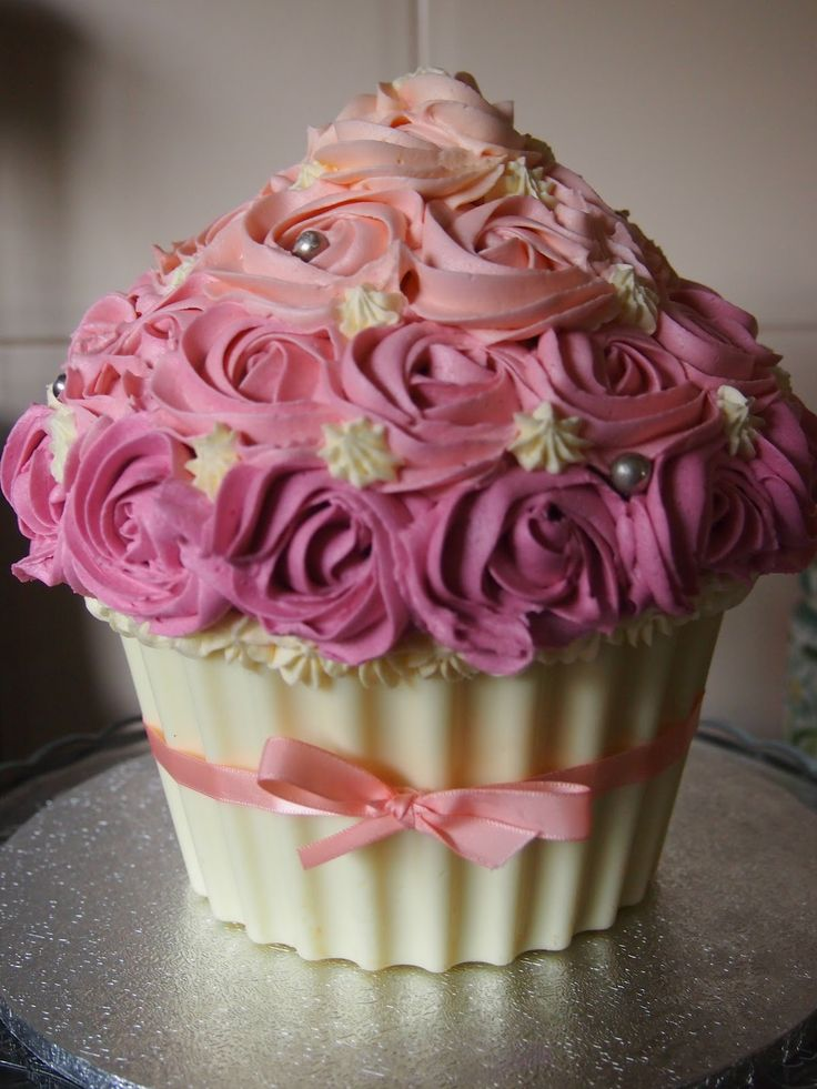 Giant Cupcake Cake Chocolate Shell