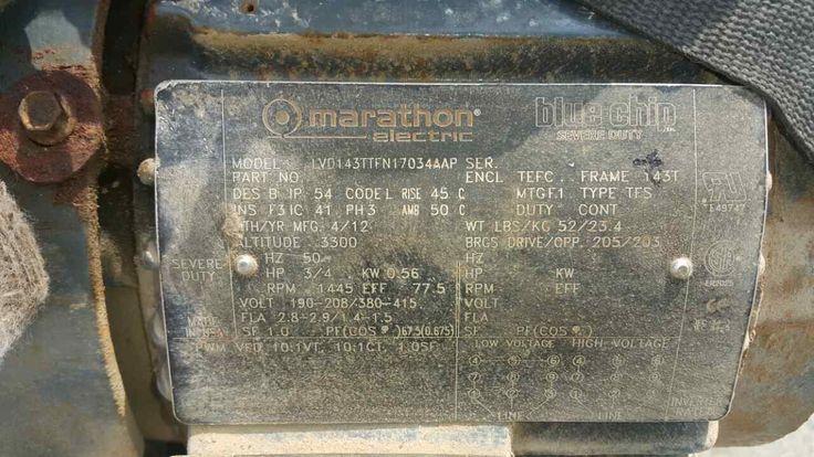 Marathon Electric 143TTFN17034 Severe Duty motor