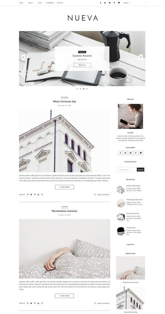 Premade Blogger Template Responsive Premade door VefioThemes