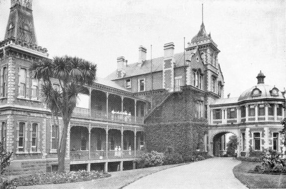 The New Melbourne Homœopathic Hospital, 1885-1934, St Kilda Road, Melbourne, Victoria, Australia (In 1934 it became Prince Henry's allopathic hospital).
