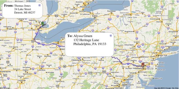 Generate your own envelopes or Mapvelopes using Google Maps. Mapvelopes lets you create your own real-life versions of these envelopes, for any from and to address you wish.
