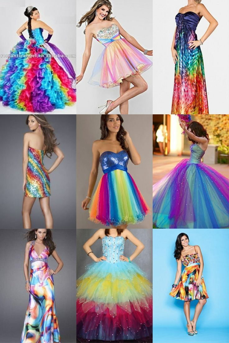 Rainbow Dresses Prom Dresses Pinterest Rainbow