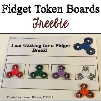 Fidget toys are SO popular right now to help our students release extra energy and allow for them to concentrate better! Unfortunately, some of our students want to have their fidget toys all of the time, which can be a distraction. Use these token board to help your students see how much more time or work they need to do before getting a break to use their fidget toy.